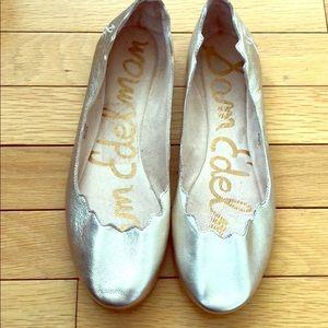 Sam Edelman Gold Ballet Flats